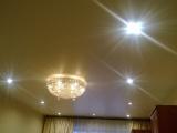 Установка натяжных потолков сатин и белый глянец в г.Кохма на ул.Машиностроительная